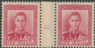 NZ Counter Coil Pair SG 683 1947 6d King George VI Join No. 8 (NCC/309)